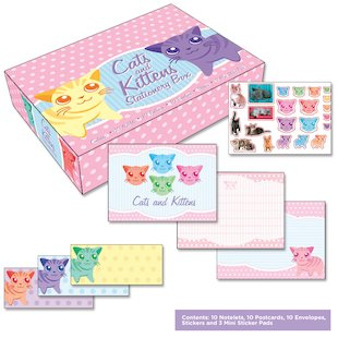 Cats and Kittens Stationery Box