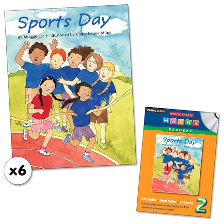Maths Readers Year 2: Sports Day x 6 plus CD-ROM