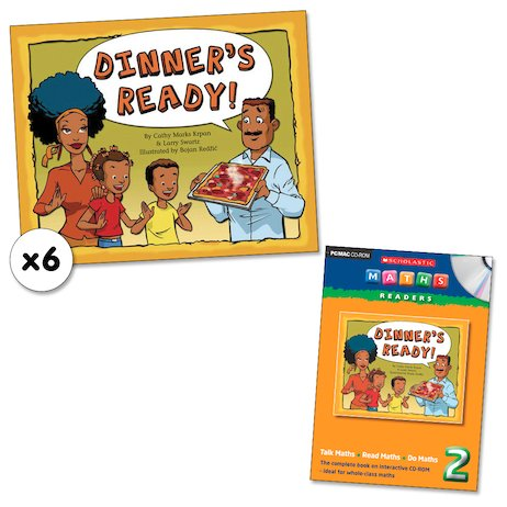 Maths Readers Year 2: Dinner's Ready! x 6 plus CD-ROM