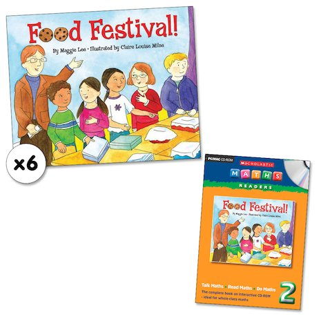 Maths Readers Year 2: Food Festival! x 6 plus CD-ROM