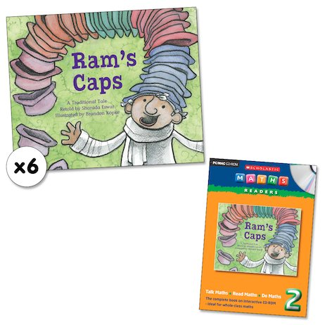 Maths Readers Year 2: Ram's Caps x 6 plus CD-ROM