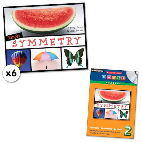 Maths Readers Year 2: Simply Symmetry x 6 plus CD-ROM