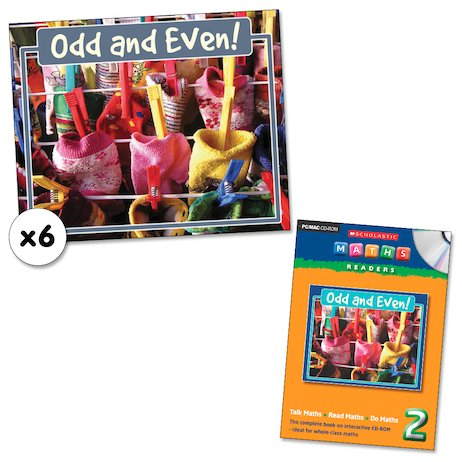 Maths Readers Year 2: Odd and Even! x 6 plus CD-ROM
