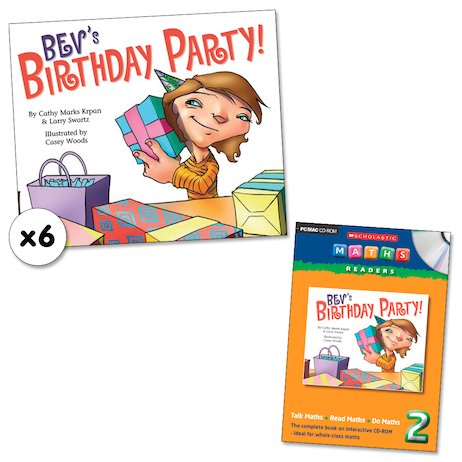 Maths Readers Year 2: Bev's Birthday Party! x 6 plus CD-ROM