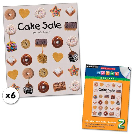 Maths Readers Year 2: Cake Sale x 6 plus CD-ROM