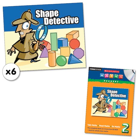 Maths Readers Year 2: Shape Detective x 6 plus CD-ROM