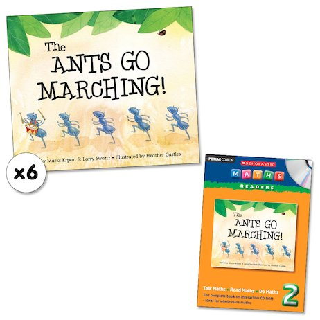 Maths Readers Year 2: The Ants Go Marching! x 6 plus CD-ROM