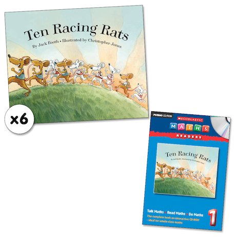 Maths Readers Year 1: Ten Racing Rats x 6 plus CD-ROM