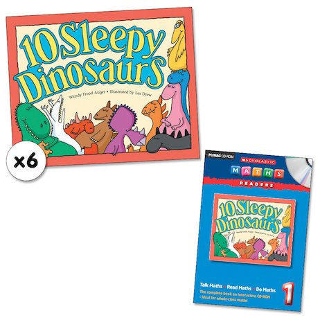 Maths Readers Year 1: 10 Sleepy Dinosaurs x 6 plus CD-ROM