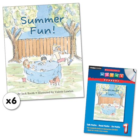 Maths Readers Year 1: Summer Fun! x 6 plus CD-ROM
