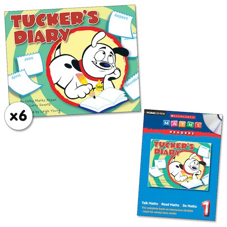 Maths Readers Year 1: Tucker's Diary x 6 plus CD-ROM