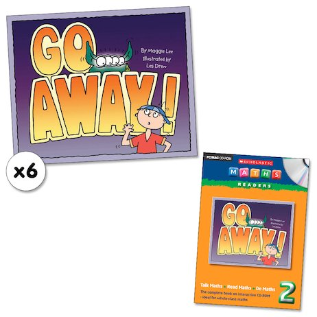 Maths Readers Year 2: Go Away! x 6 plus CD-ROM