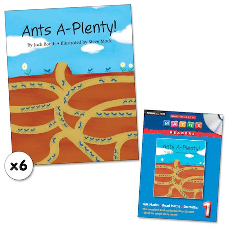 Maths Readers Year 1: Ants A-Plenty! x 6 plus CD-ROM