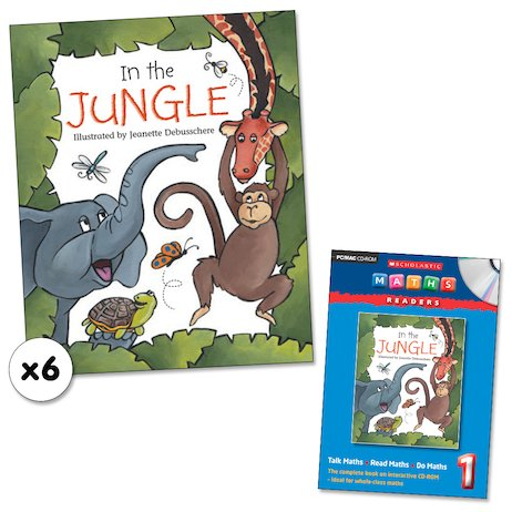 Maths Readers Year 1: In the Jungle x 6 plus CD-ROM