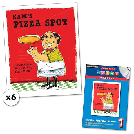 Maths Readers Year 1: Sam's Pizza Spot x 6 plus CD-ROM