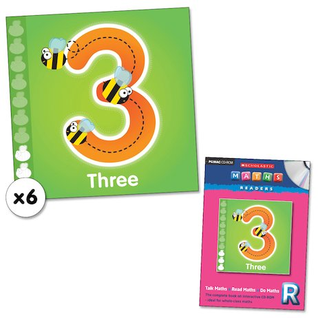 Maths Readers Reception: Three x 6 plus CD-ROM