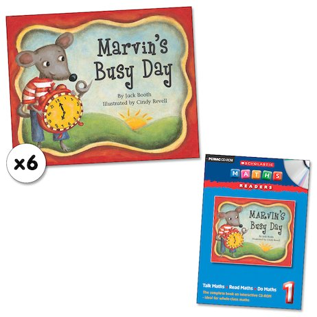Maths Readers Year 1: Marvin's Busy Day x 6 plus CD-ROM