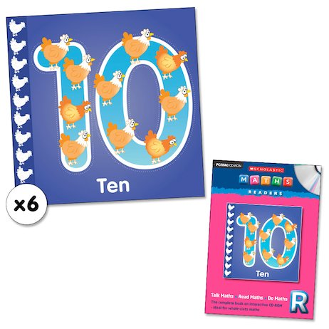 Maths Readers Reception: Ten x 6 plus CD-ROM