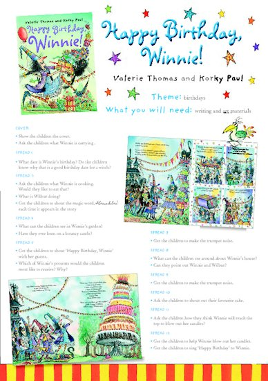 Winnie the Witch Teacher's Party Pack