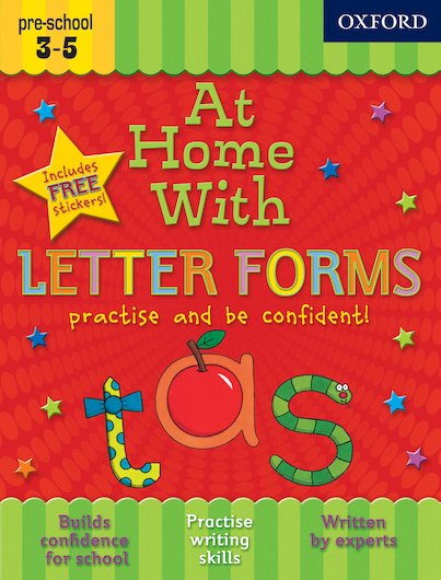 At Home With Letter Forms: Ages 3-5