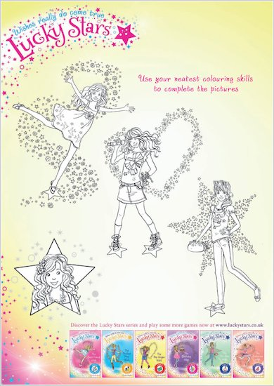 Lucky Stars Colouring