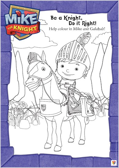 Colour Mike the Knight and Galahad