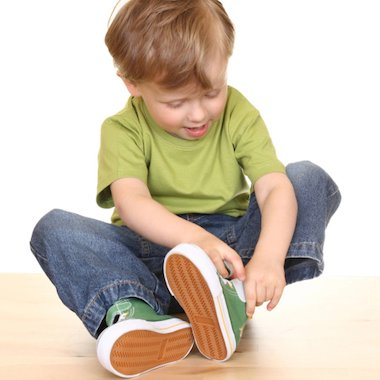 Child with shoes
