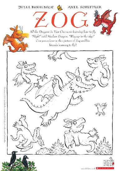 Zog activity sheets
