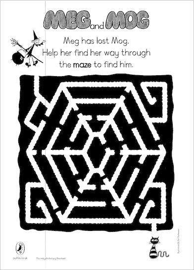 Meg and Mog maze