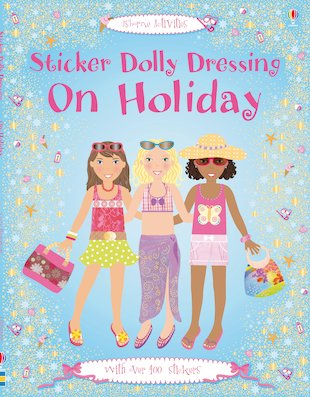 Sticker Dolly Dressing On Holiday