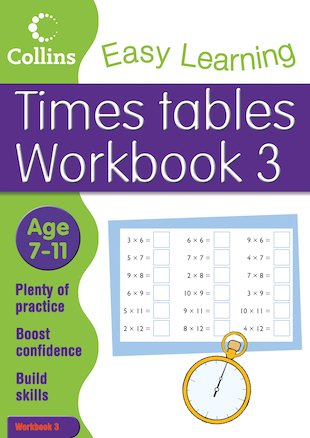 Collins Easy Learning: Times Tables Workbook 3 (Ages 7-11)