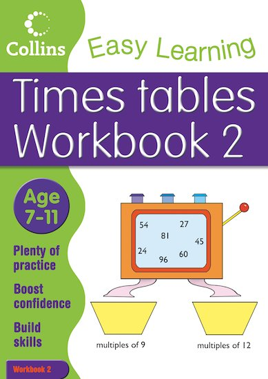 Collins Easy Learning: Times Tables Workbook 2 (Ages 7-11)