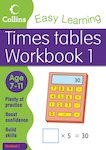 Collins Easy Learning: Times Tables Workbook 1 (Ages 7-11)