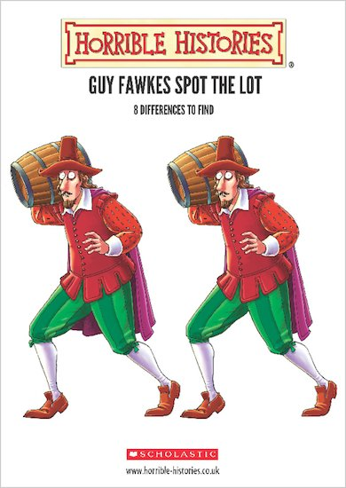 Horrible Histories Guy Fawkes Spot the Lot