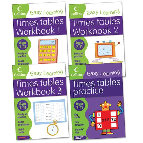 Collins Easy Learning: Times Tables Pack (Ages 7-11)