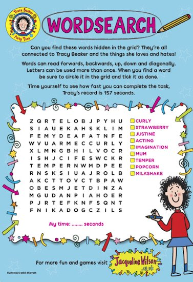 Tracy Beaker Resources