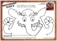 Monstersaurus Colour In