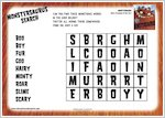 Monstersaurus word search