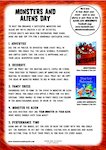 Monsters and Aliens pack (14 pages)