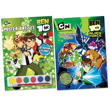Ben 10: Poster Art and Colouring Pack