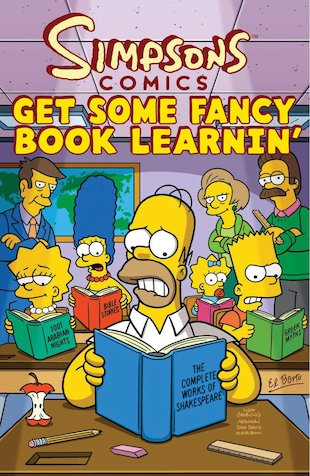 Simpsons Comics: Get Some Fancy Book Learnin'