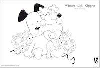Kipper Winter Colouring