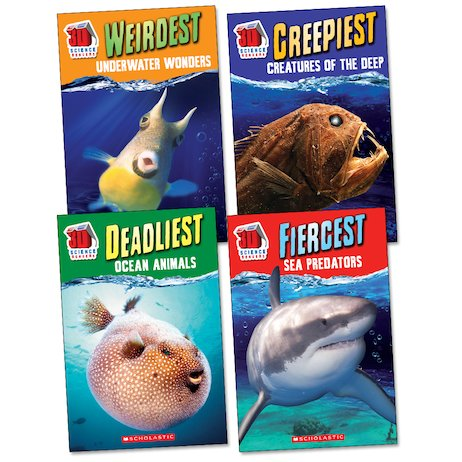 3D Science Readers: Ocean Creatures Pack x 4