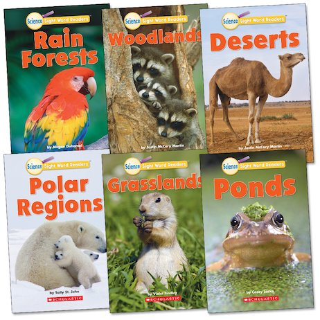 Science Sight Word Readers: Habitats Pack