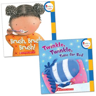 Brush, Brush, Brush! / Twinkle, Twinkle, Time for Bed Flip Book