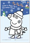 Peppa Pig Christmas colouring