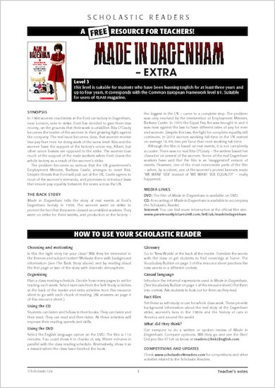 Made in Dagenham : Resource Sheet and Answers