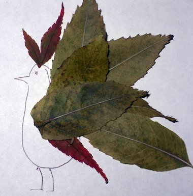 Leaf creature - bird