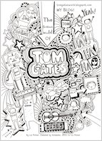 Tom Gates colouring sheet