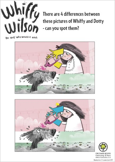 Whiffy Wilson activity sheets
